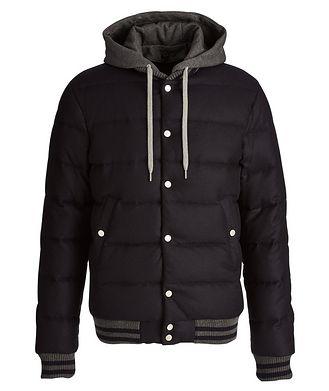 Eleventy Storm System Wool-Cashmere Bomber Jacket