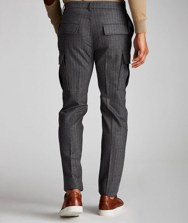 Striped Wool-Cashmere Cargo Pants image 1