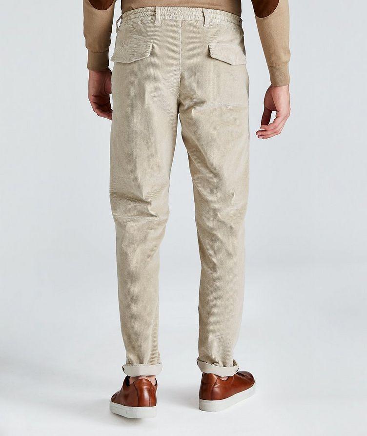 Pantalon en velours côtelé extensible à cordon image 1