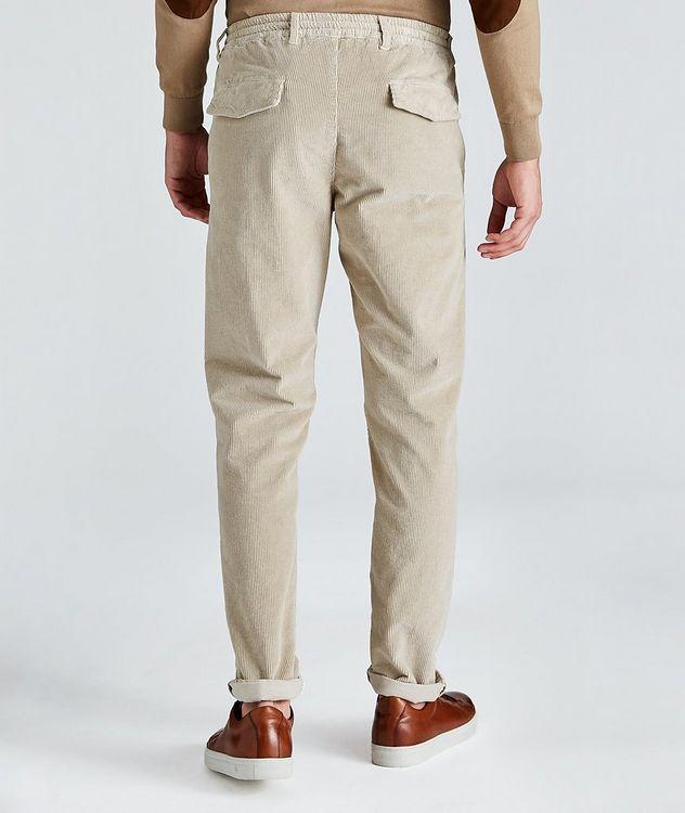 Pantalon en velours côtelé extensible à cordon picture 2