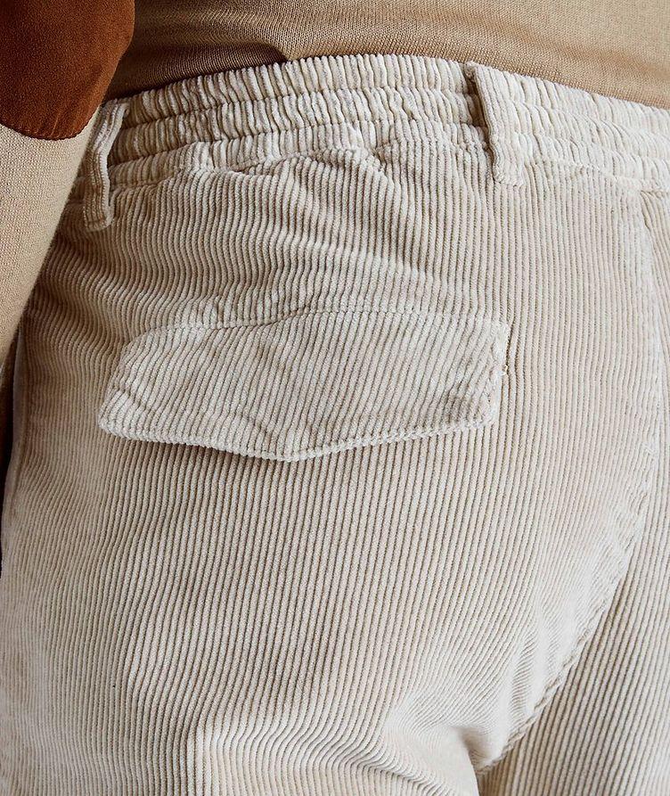 Pantalon en velours côtelé extensible à cordon image 2