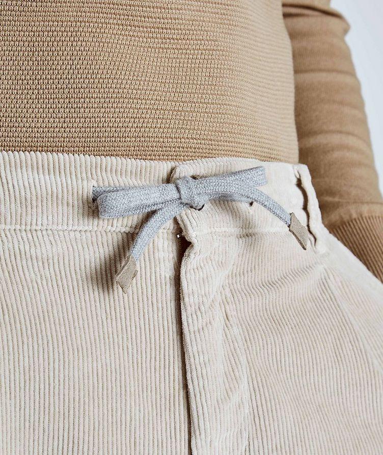 Pantalon en velours côtelé extensible à cordon image 3