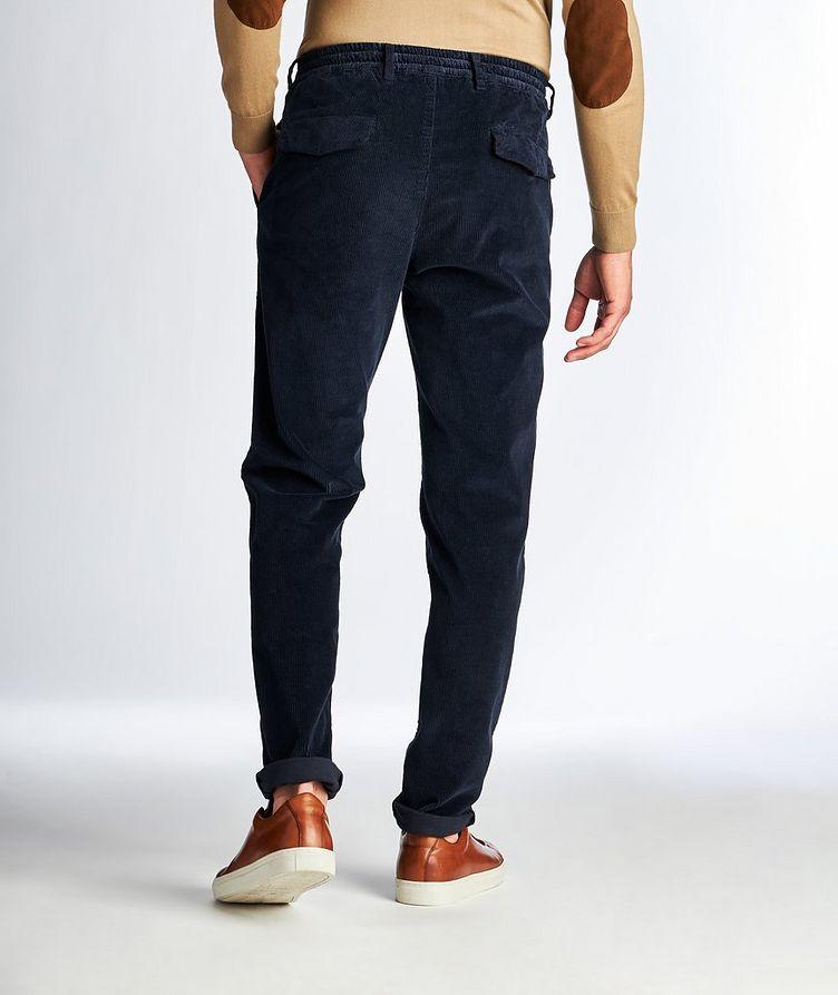 Drawstring Stretch Corduroy Pants image 1