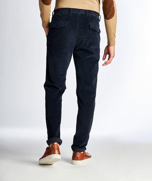 Drawstring Stretch Corduroy Pants picture 2