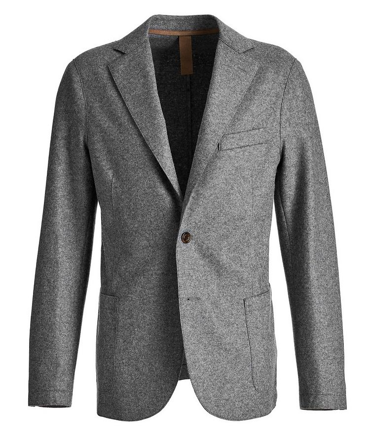 Wool-Blend Unstructured Sports Jacket image 0