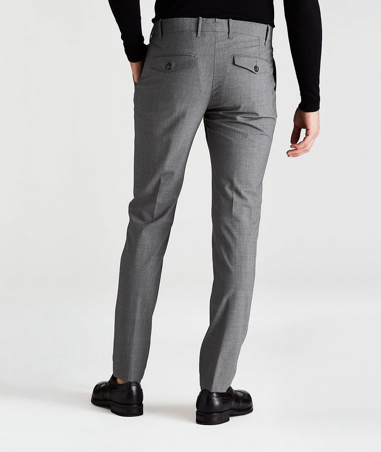 Double-Pleated Four-Way Stretch Wool Pants image 1