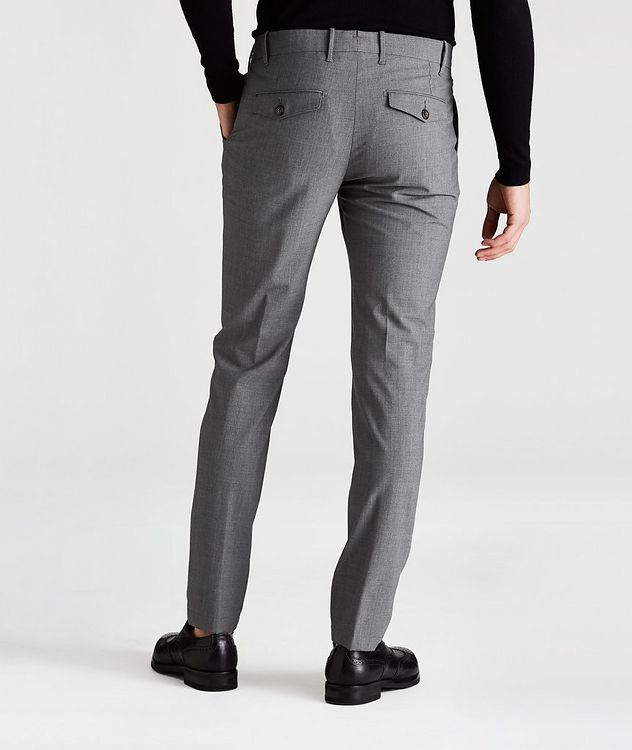 Double-Pleated Four-Way Stretch Wool Pants picture 2