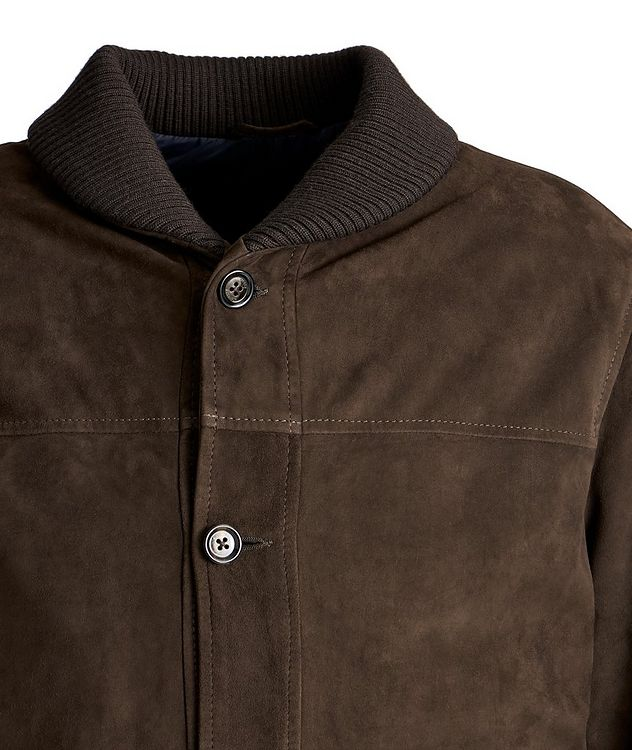 Suede Bomber Jacket picture 2