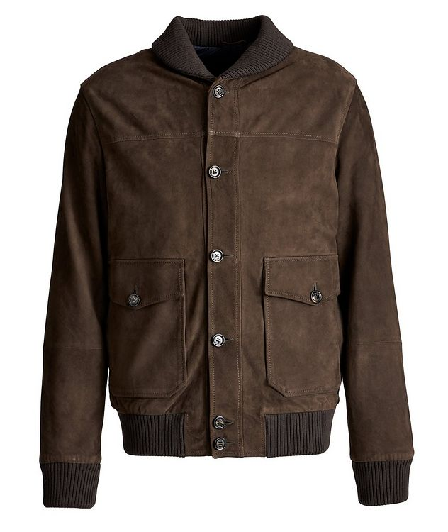 Suede Bomber Jacket picture 1