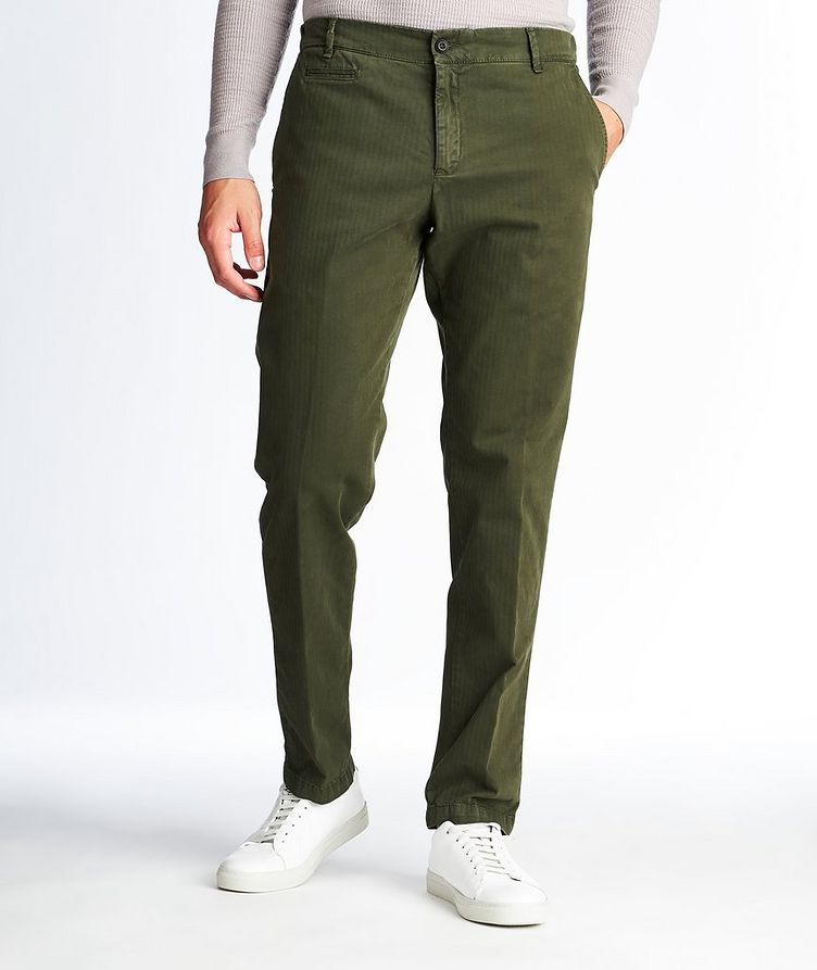 Chino en coton extensible à rayures image 0