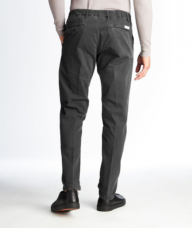 Striped Stretch-Cotton Chinos image 1