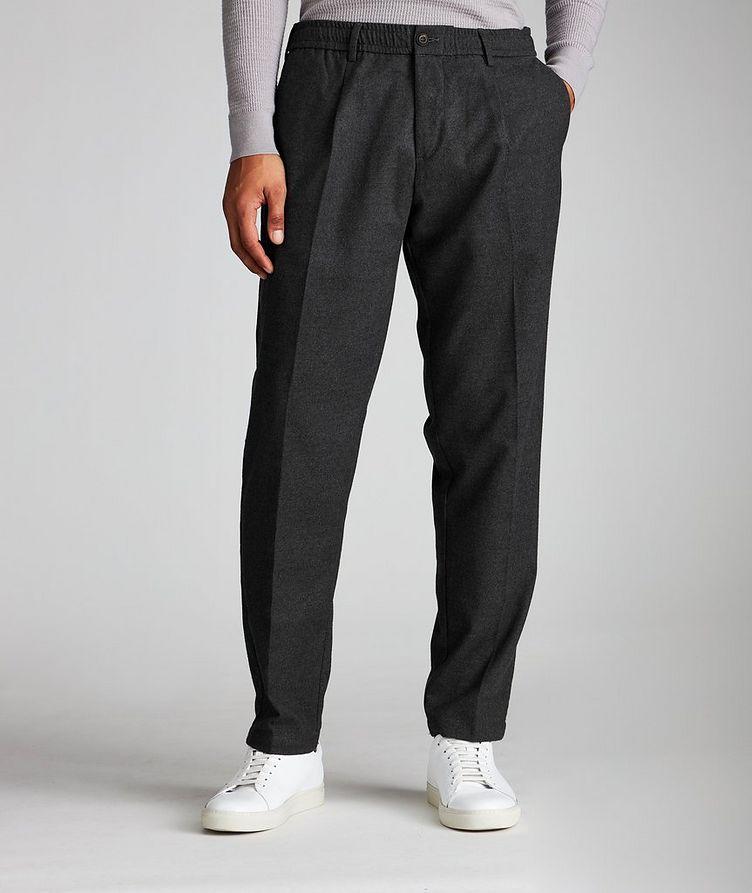 Pantalon en tissu extensible à cordon image 0