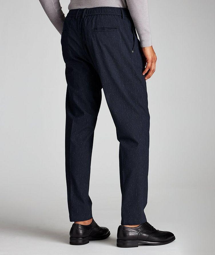Pantalon en tissu extensible à rayures et à cordon image 1