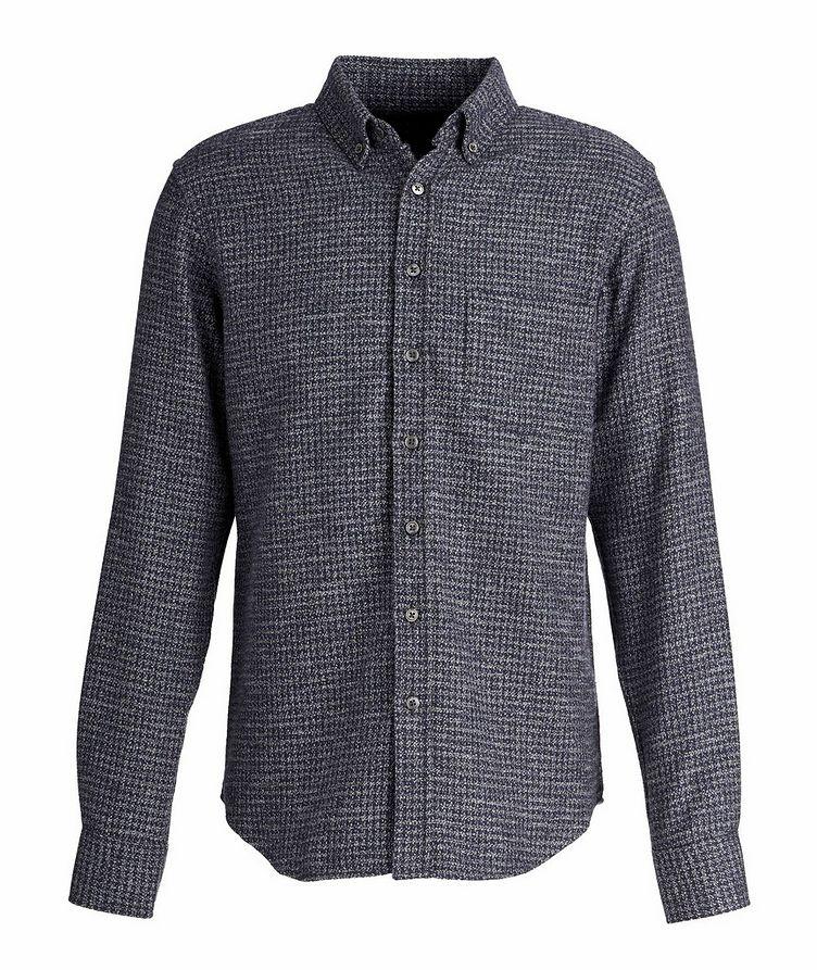 Chemise en flanelle de coton à pied-de-poule image 0