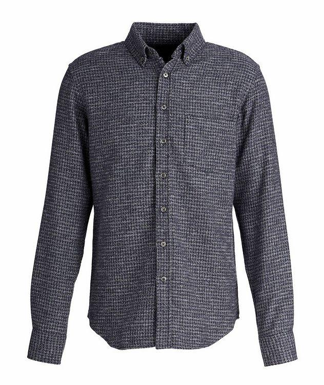 Chemise en flanelle de coton à pied-de-poule picture 1