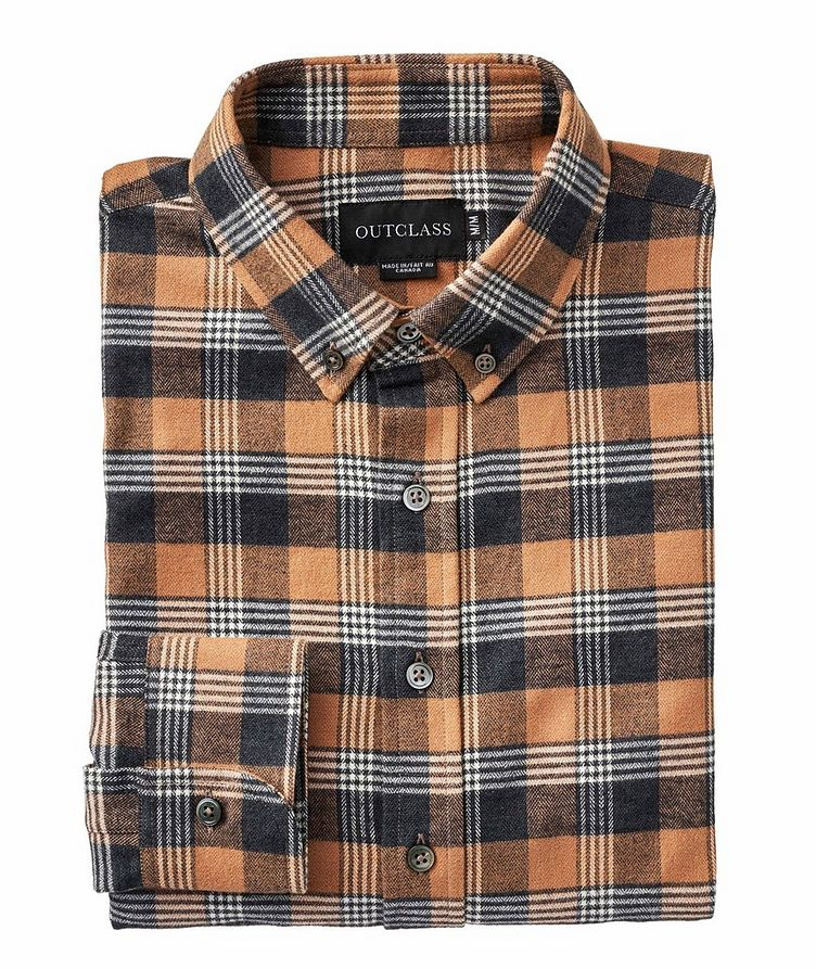 Checked Cotton-Flannel Shirt image 0
