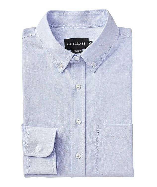 Contemporary Fit Oxford Cotton Shirt picture 1
