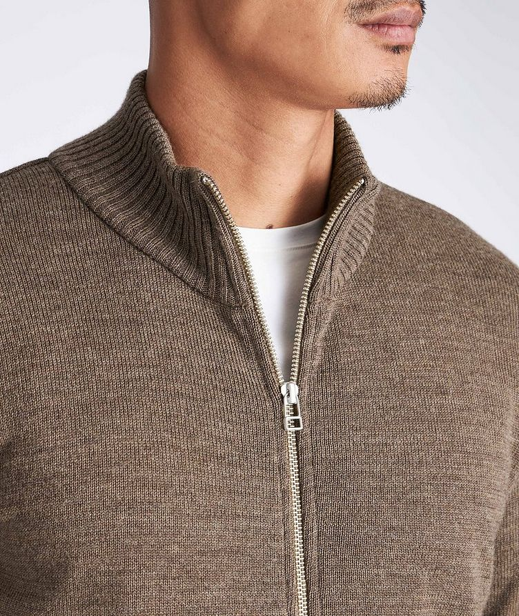 Knitted Wool Cardigan image 3