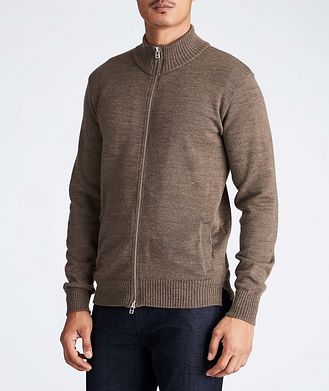 Outclass Knitted Wool Cardigan