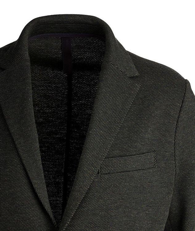 Veston non structuré en laine et coton picture 2
