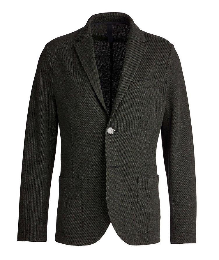 Veston non structuré en laine et coton image 0