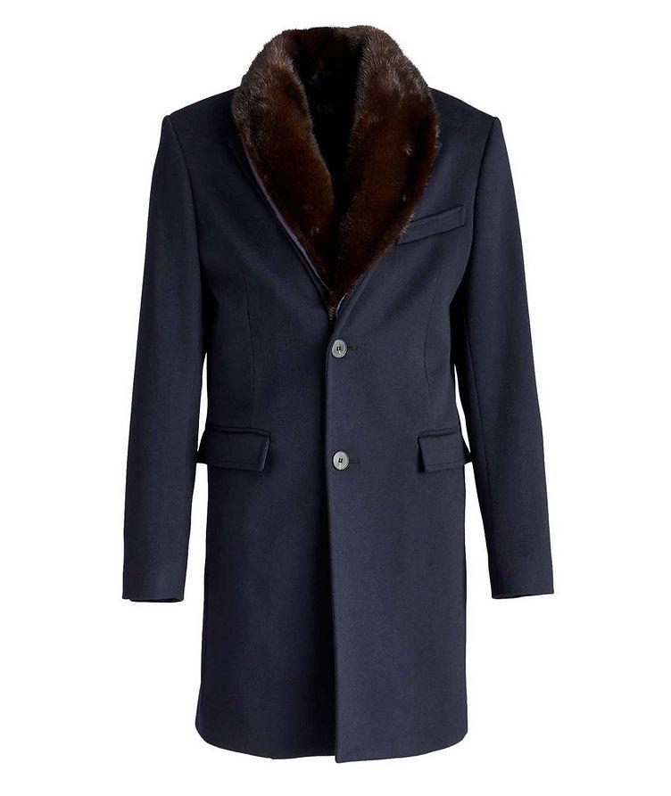 Mink-Trimmed Wool Overcoat  image 0