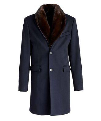 HiSo Mink-Trimmed Wool Overcoat