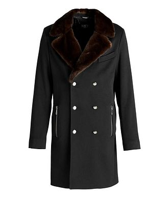 HiSo Double-Breasted Wool Overcoat