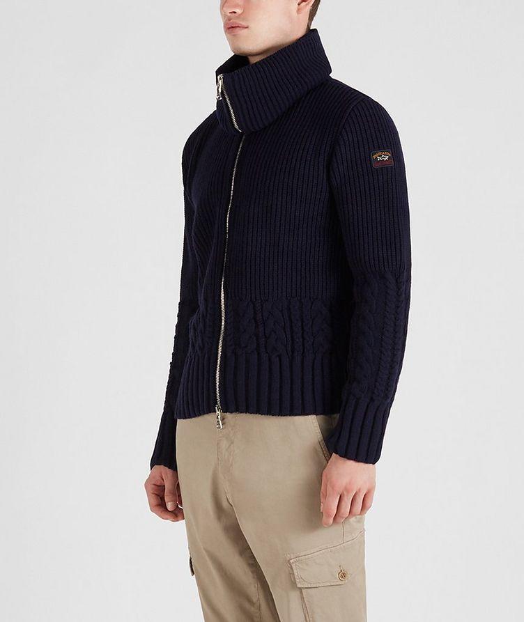 Zip-Up Wool Sweater image 1