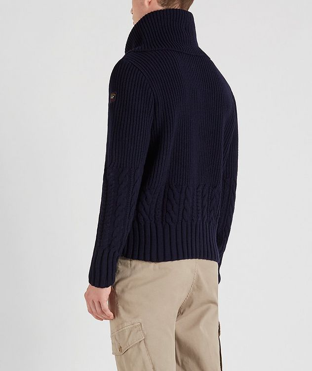 Zip-Up Wool Sweater picture 3