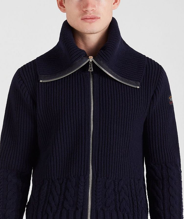 Zip-Up Wool Sweater image 3