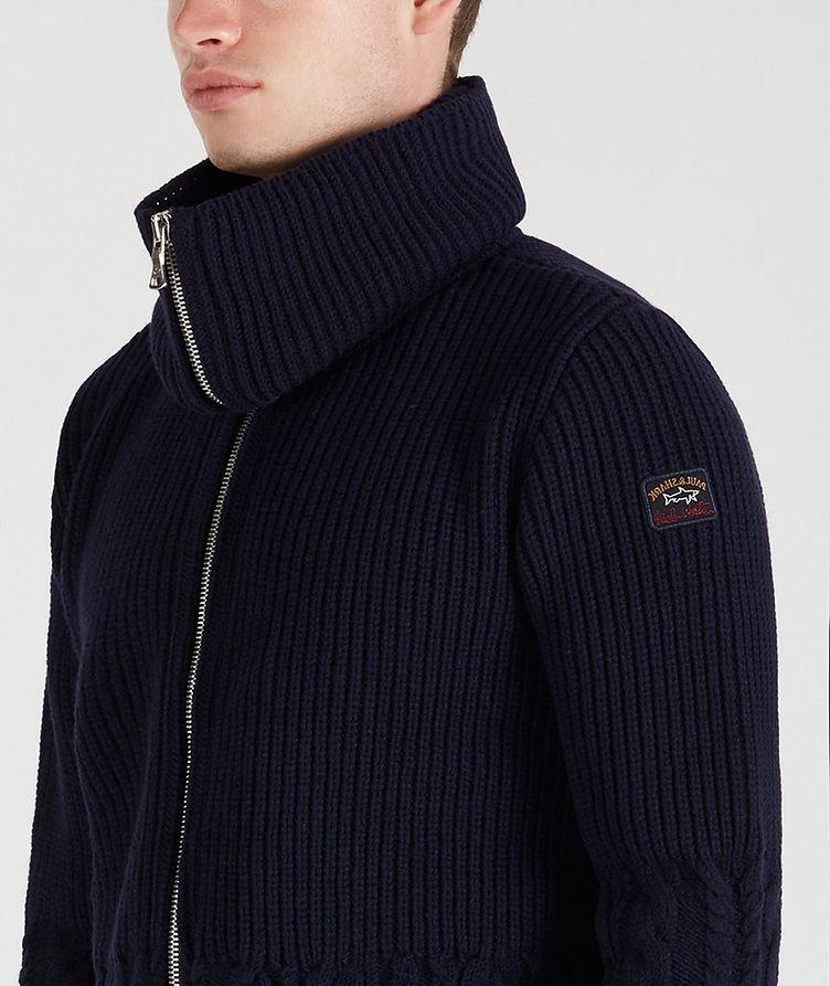 Zip-Up Wool Sweater image 4