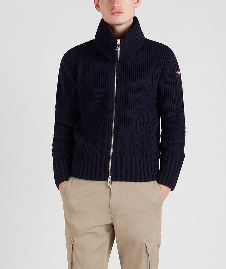 Zip-Up Wool Sweater image 0