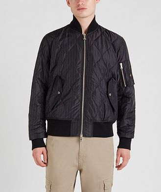 Paul & Shark Wave-Quilted Bomber