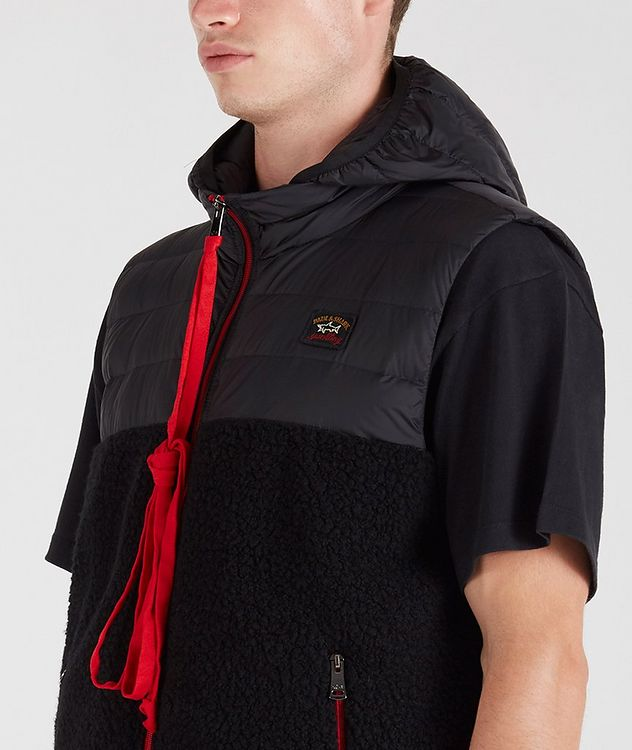 Ultra-Light Down Wool-Blend Sherpa Vest picture 4