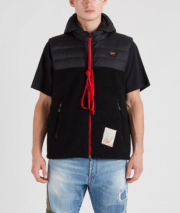 Ultra-Light Down Wool-Blend Sherpa Vest picture 1
