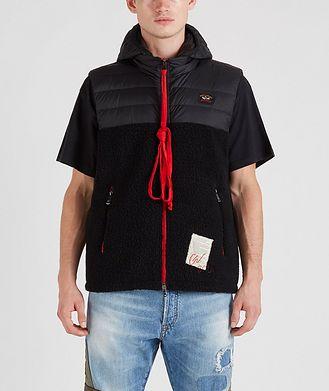 Paul & Shark Ultra-Light Down Wool-Blend Sherpa Vest