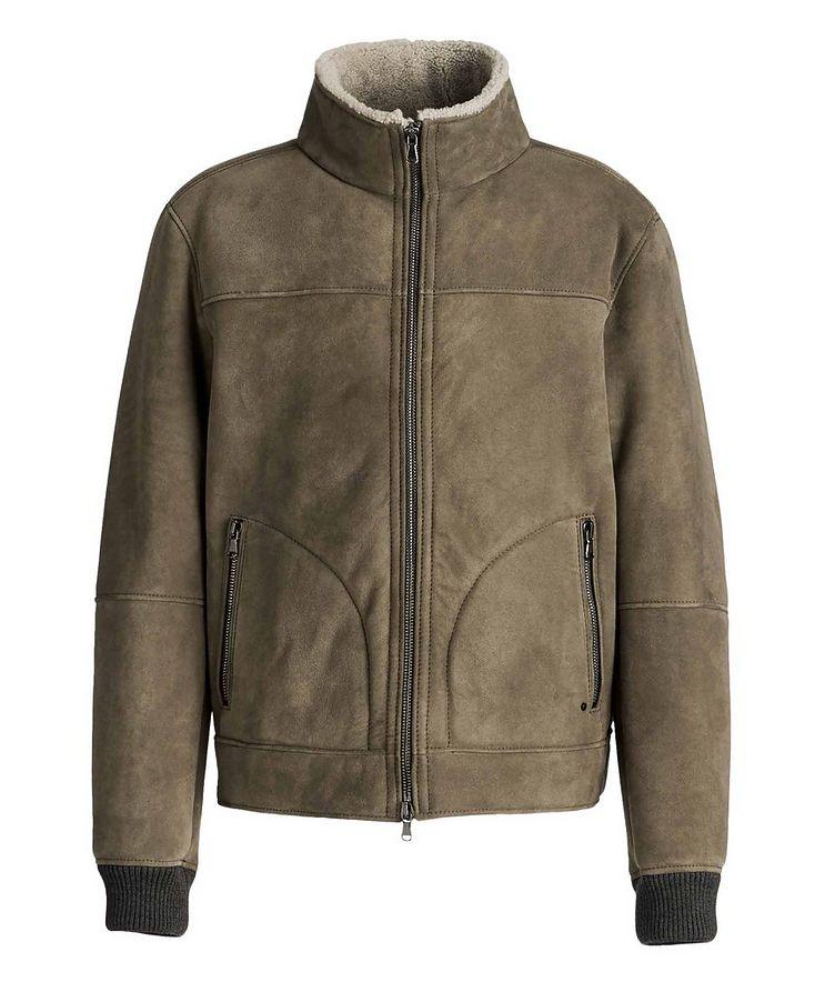 Basil Suede-Shearling Bomber Jacket image 0