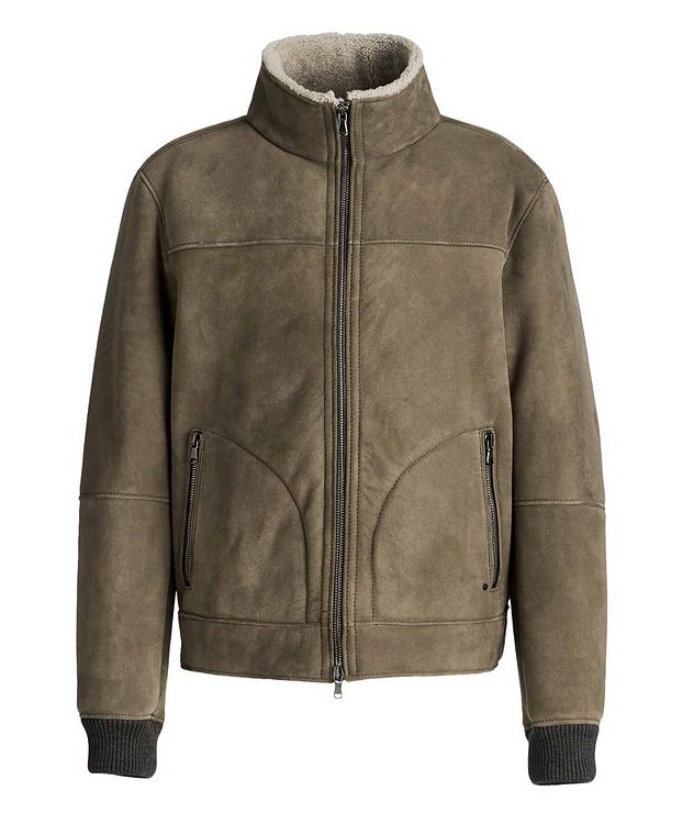 Basil Suede-Shearling Bomber Jacket picture 1