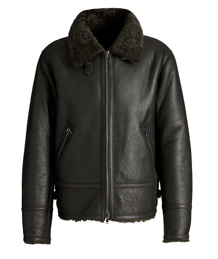Em Suede-Shearling Biker Jacket image 0
