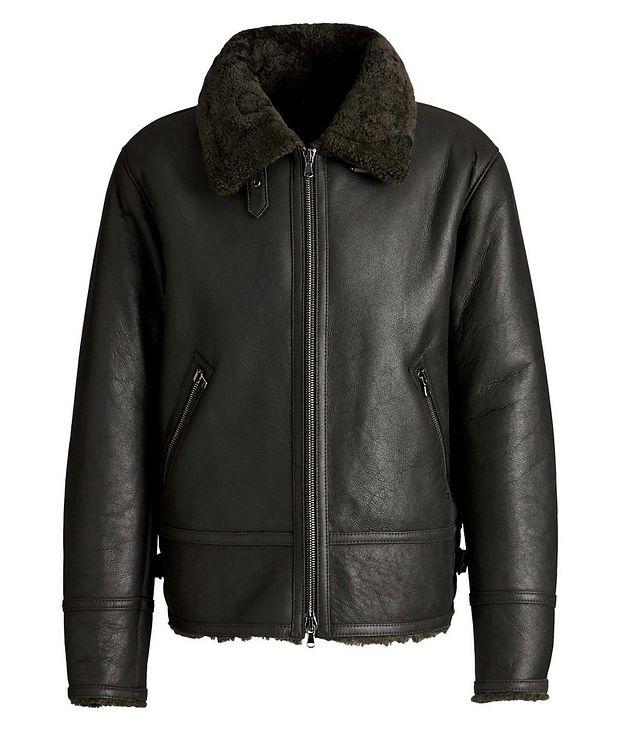 Em Suede-Shearling Biker Jacket picture 1