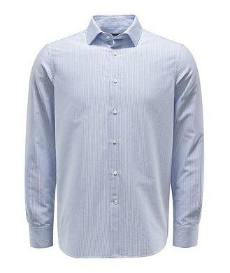 0 4 6 5 1 / A TRIP IN A BAG Striped Oxford Cotton Shirt