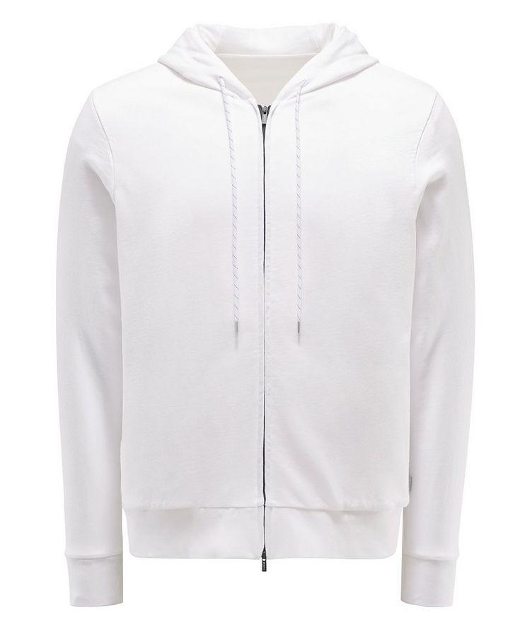 Zip-Up Cotton Hoodie image 0