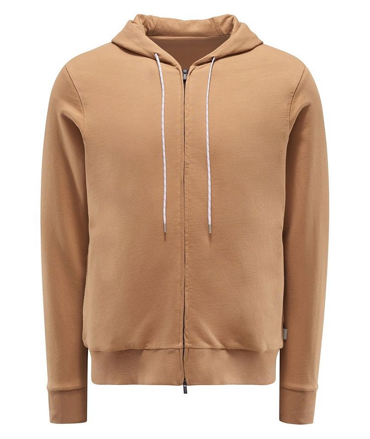 Zip-Up Cotton Hoodie image 0