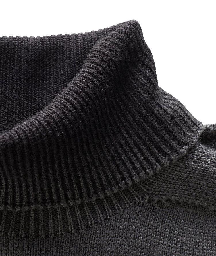 Pull en laine vierge à col roulé image 1