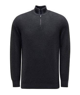 0 4 6 5 1 / A TRIP IN A BAG Half-Zip Merino Sweater