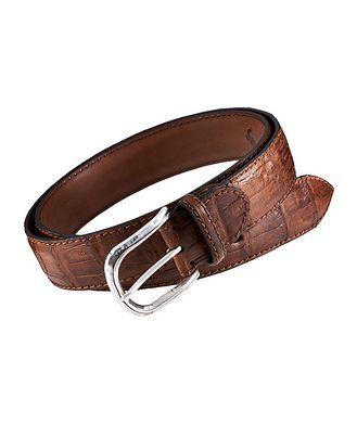 Harry Rosen Signature Crocodile Leather Belt