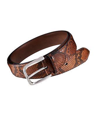 Harry Rosen Signature Python Leather Belt