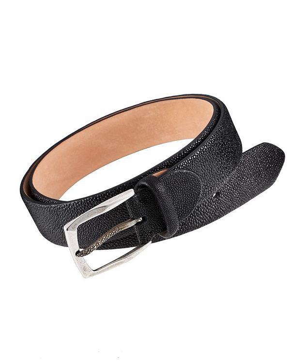 Pebbled Stingray Leather Belt picture 1