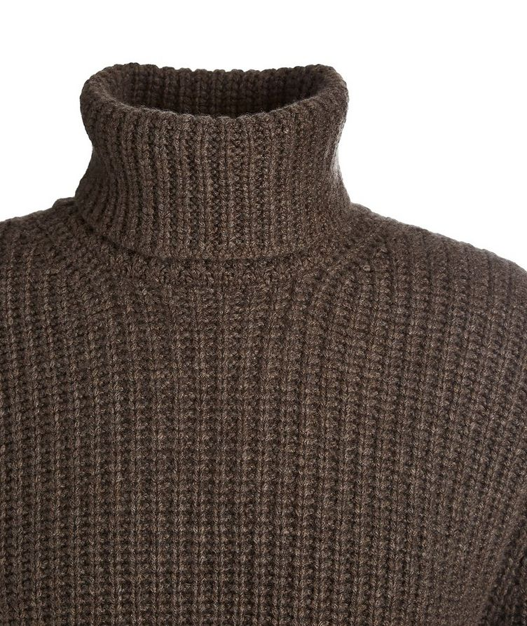 Cable Knit Cashmere Turtleneck image 1